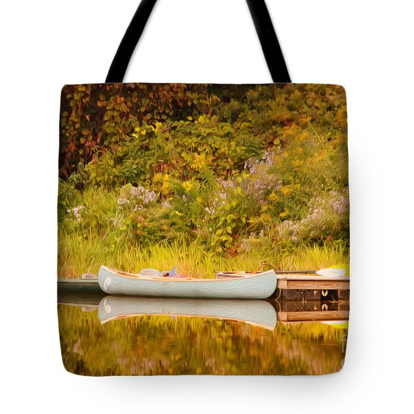 Montpelier Canoe Tote Bag by Deborah Benoit