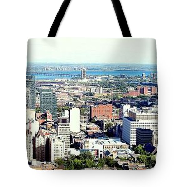 Montreal City View From Mont Royal Tote Bag by Lingfai Leung