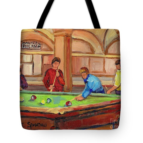 Montreal Pool Room Tote Bag by Carole Spandau