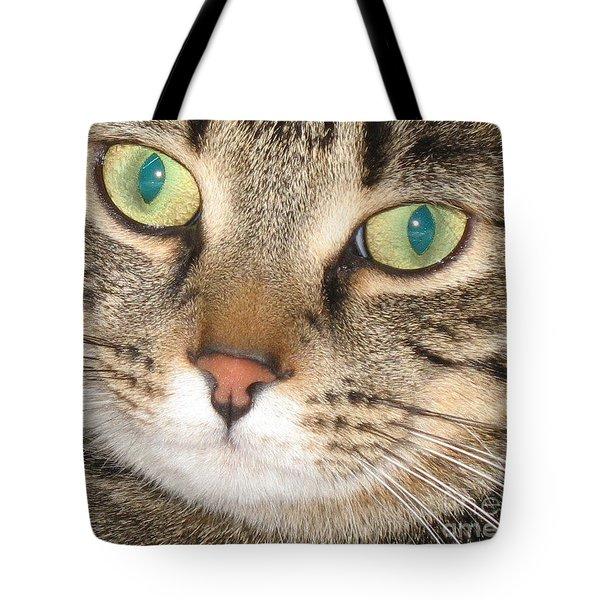 Monty The Cat Tote Bag by Jolanta Anna Karolska