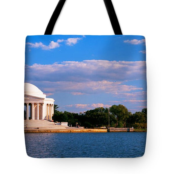 Monument On The Waterfront, Jefferson Tote Bag by Panoramic Images