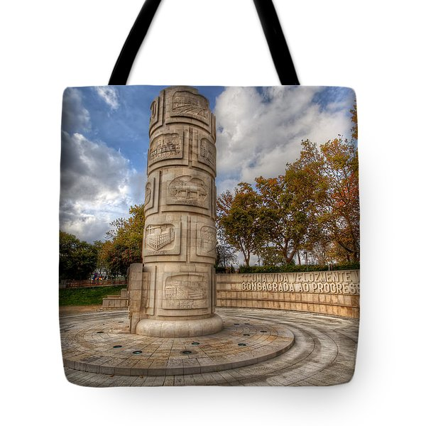 Monument To The Peoples Struggles Tote Bag by English Landscapes