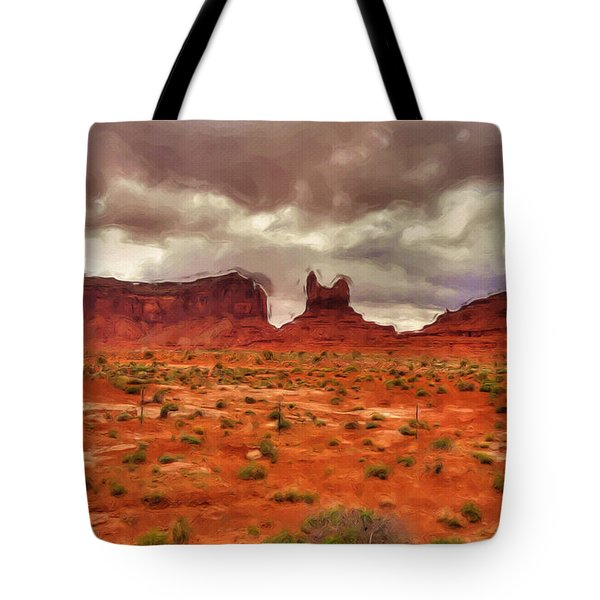 Monument Valley Tote Bag by Ayse Deniz