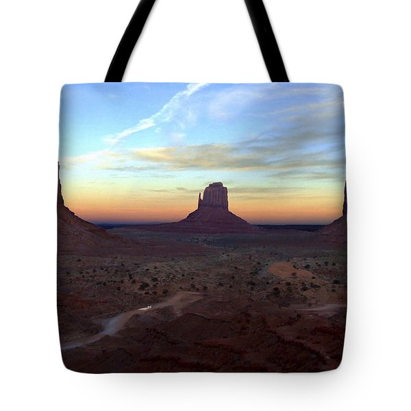 Monument Valley Just After Sunset Tote Bag by Mike McGlothlen