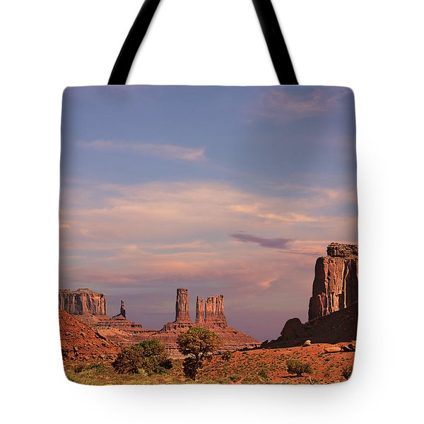 Monument Valley - Mars-like Terrain Tote Bag by Christine Till