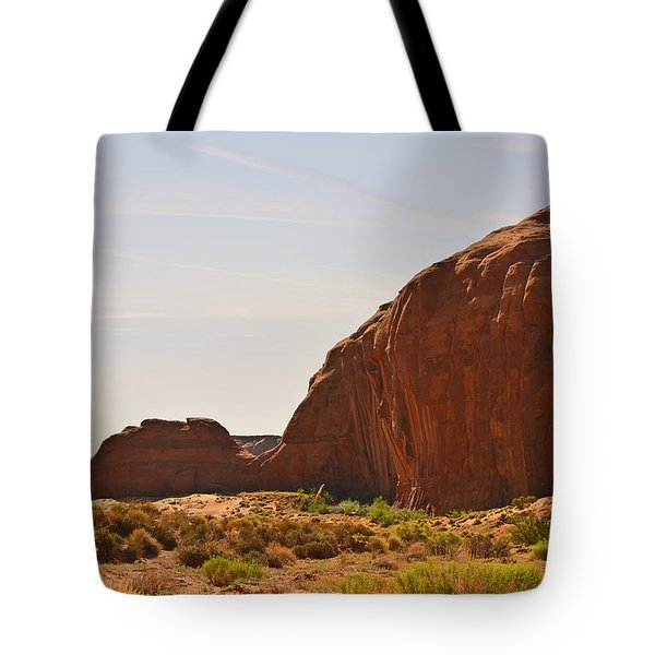 Monument Valley Sleeping Dragon Tote Bag by Christine Till