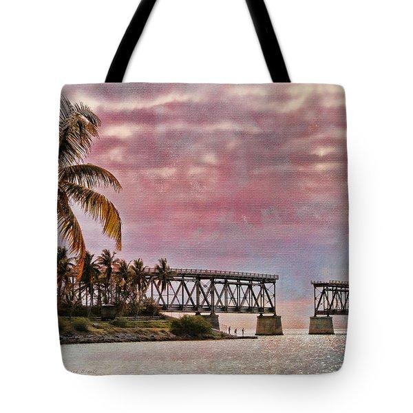 Mood Of The Keys Tote Bag by Deborah Benoit