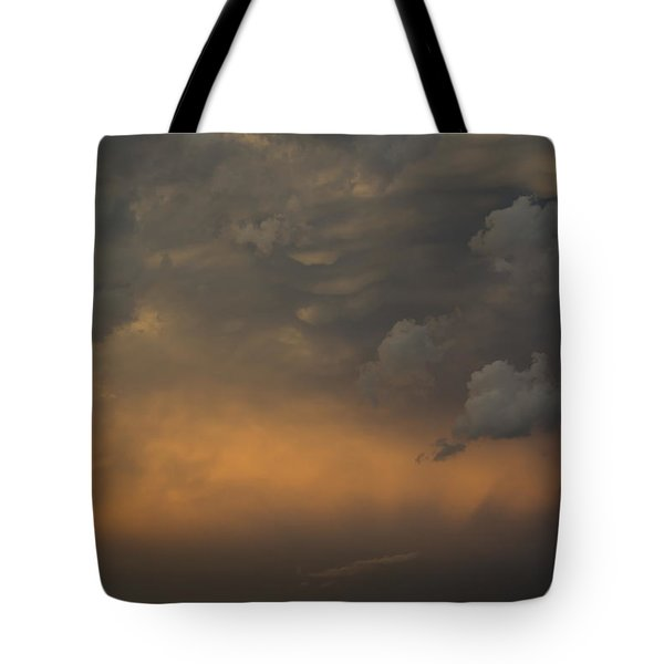 Moody Storm Sky Over Lake Ontario In Toronto Tote Bag by Georgia Mizuleva
