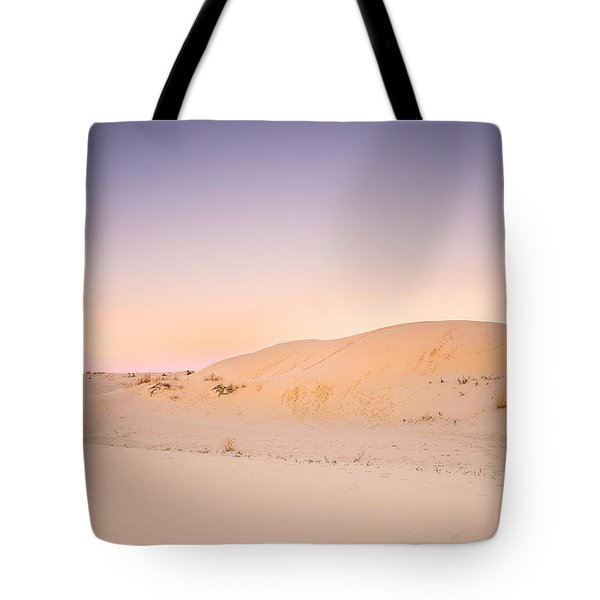 Moon And Sand Dune In Twilight Tote Bag by Ellie Teramoto
