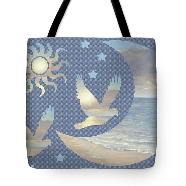 Moon And Stars Tote Bag by Diane Romanello