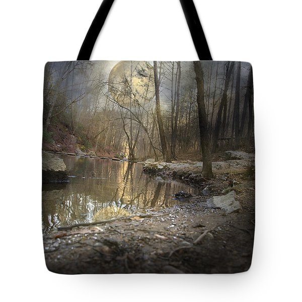 Moon Camp Tote Bag by Betsy A  Cutler