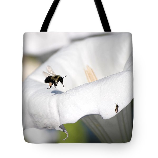 Moon Flower 3 Tote Bag by Thomas Woolworth