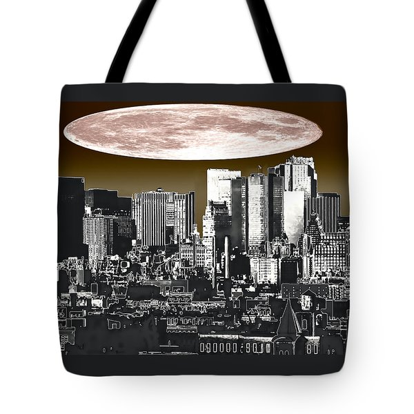 Moon Over Manhattan Tote Bag by Kellice Swaggerty