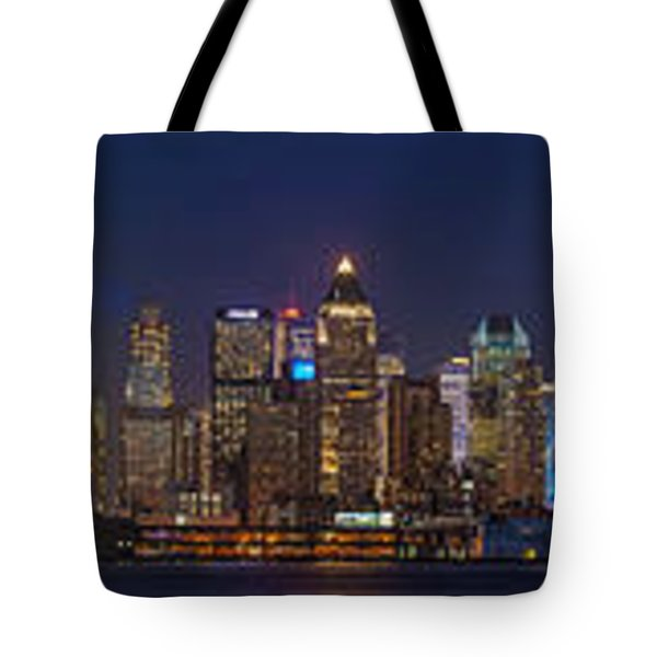 Moon Over Manhattan Tote Bag by Mike Reid