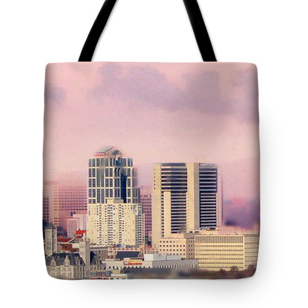 Moon Over Nashville Tote Bag by Amy Tyler