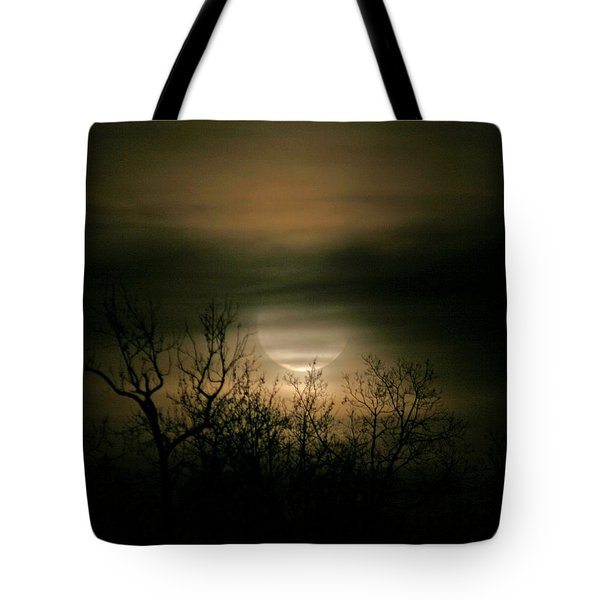 Moon Over Prince George Tote Bag by Karen Harrison