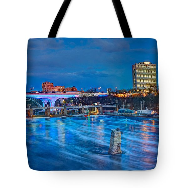 Moon Over The Mississippi Tote Bag by Amanda Stadther