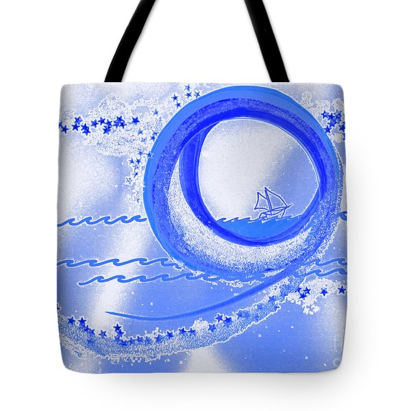 Moon Surfing 1 By Jrr Tote Bag by First Star Art