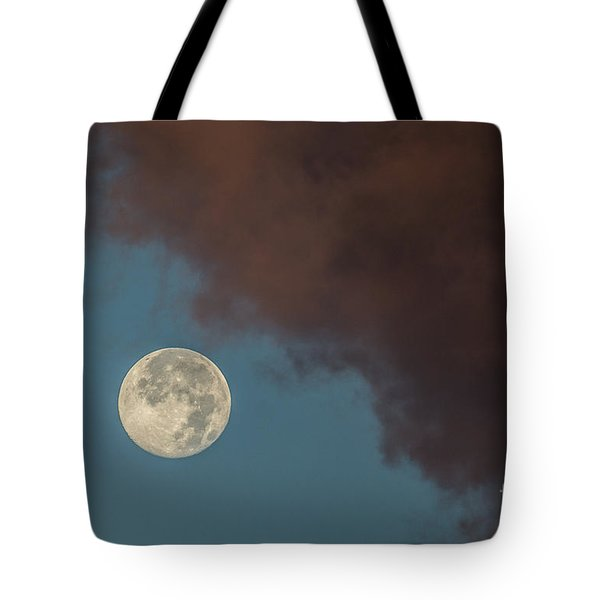 Moon Transition from Night to Day Tote Bag by Rene Triay Photography