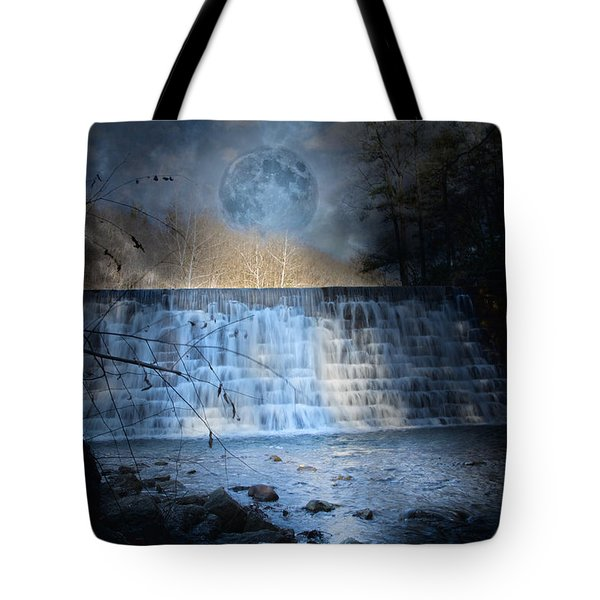 Moonlight Falls Tote Bag by Betsy A  Cutler
