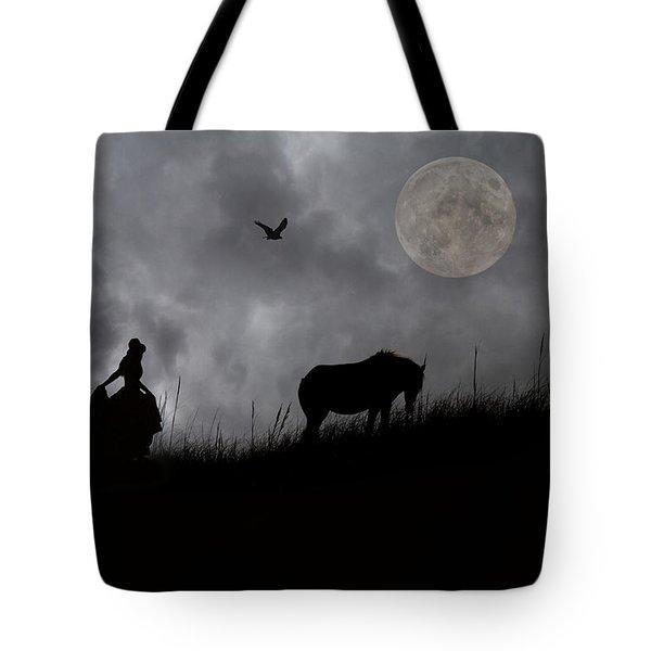 Moonlight Walk Tote Bag by Betsy C  Knapp
