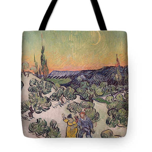 Moonlit Landscape Tote Bag by Vincent Van Gogh