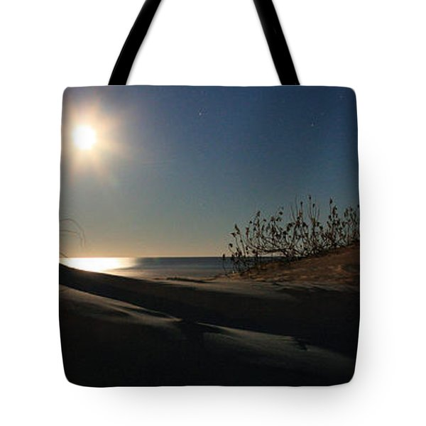 Moonrise Over the Dunes Tote Bag by JC Findley