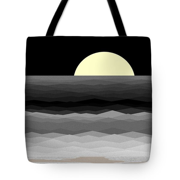 Moonrise Surf Tote Bag by Val Arie