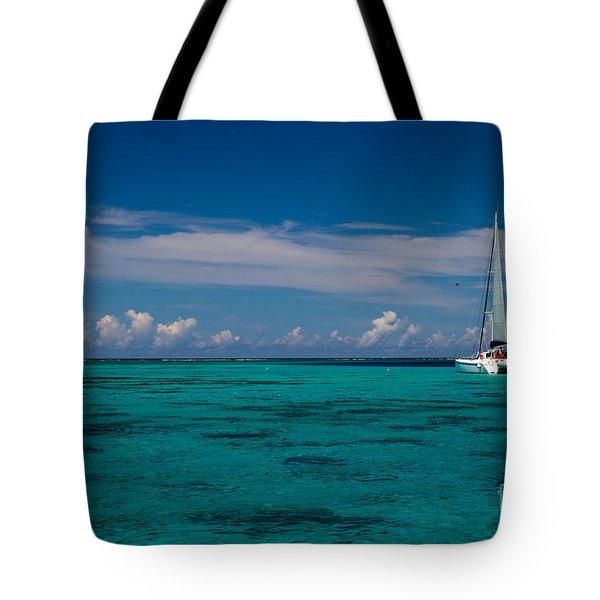 Moorea Lagoon No 16 Tote Bag by David Smith