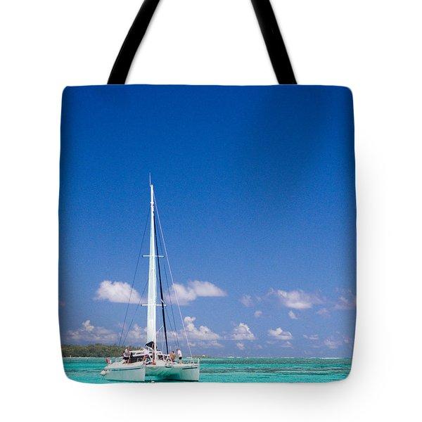 Moorea Lagoon No 4 Tote Bag by David Smith