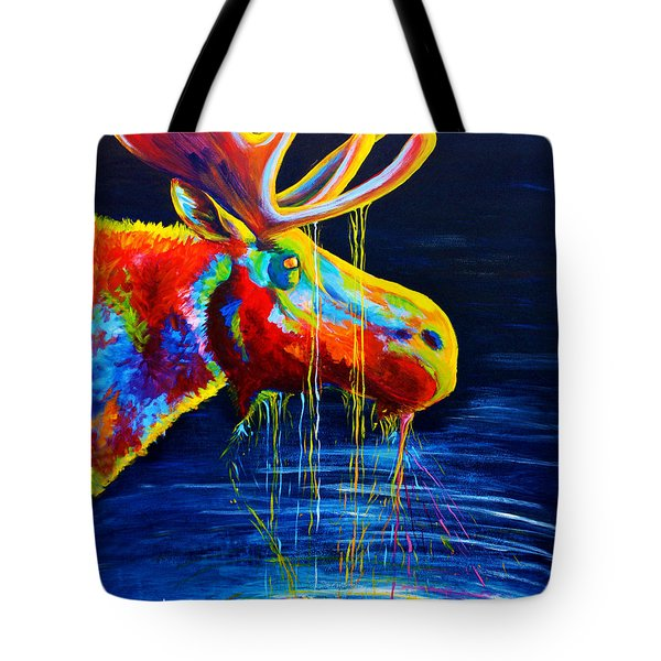 Moose Drool Tote Bag by Teshia Art