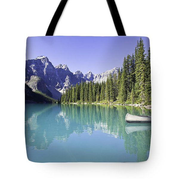 Moraine Lake And Valley Of The Ten Tote Bag by Ken Gillespie