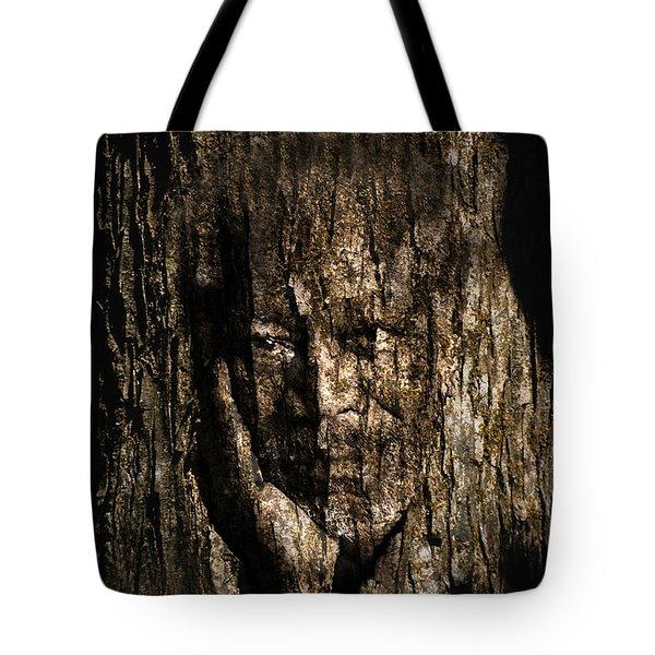 Morgan Freeman Roots Digital Painting Tote Bag by Georgeta Blanaru