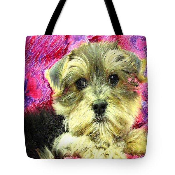 Morkie Puppy Tote Bag by Jane Schnetlage