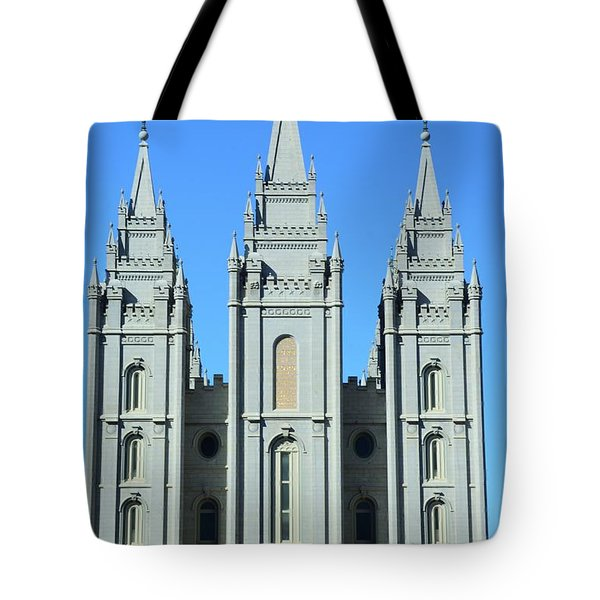 Morman Temple Tote Bag by Kathleen Struckle