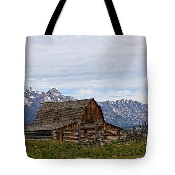 Mormon Row Barn Grand Teton Np  Tote Bag by Teresa Zieba