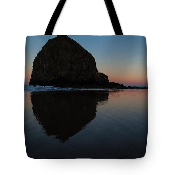 Morning At Haystack Tote Bag by Mike Reid