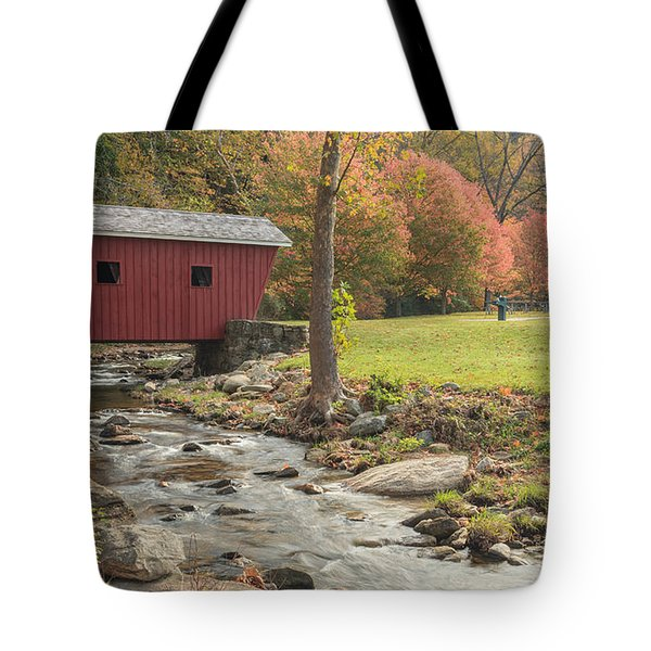 Morning at the park Tote Bag by Bill  Wakeley