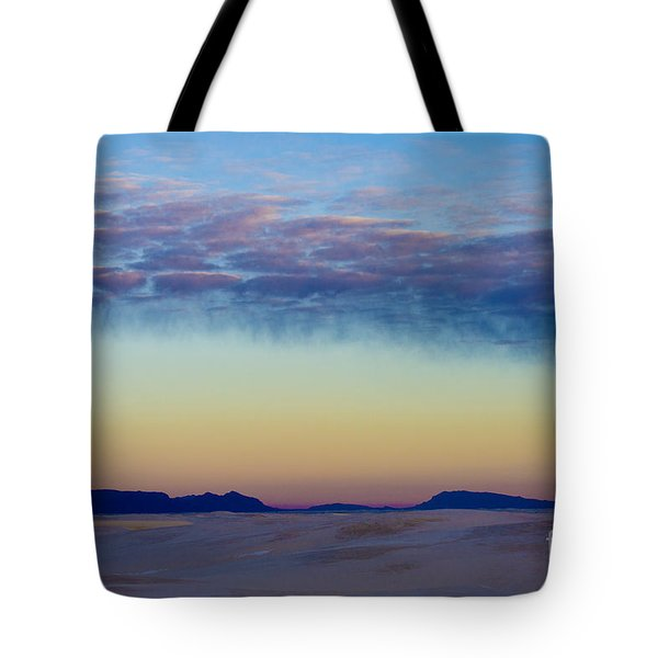 Morning Begins in White Sands Tote Bag by Sandra Bronstein
