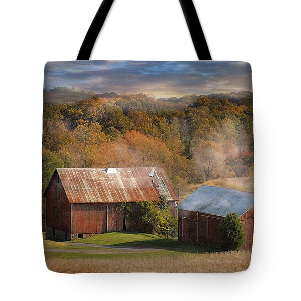 Morning Burn Tote Bag by Fran J Scott