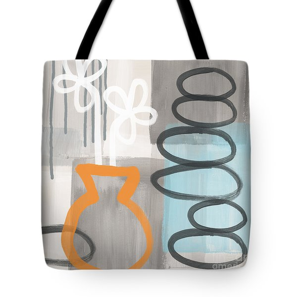 Morning Flowers Tote Bag by Linda Woods