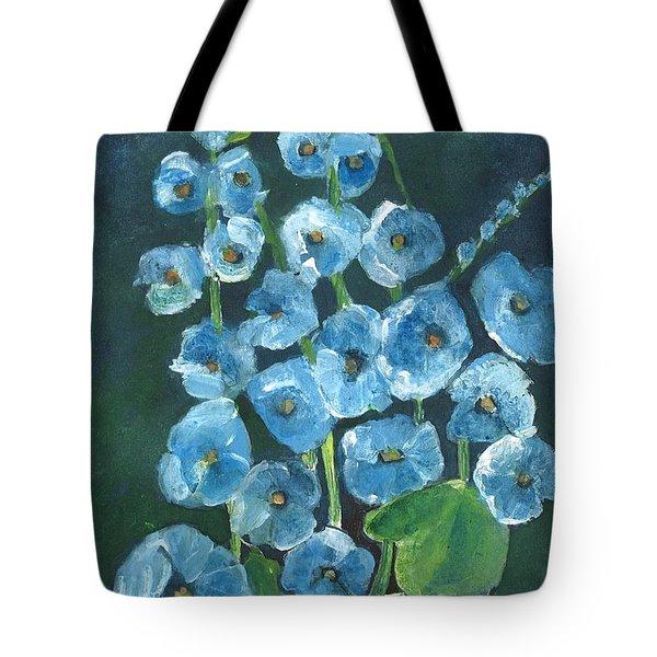 Morning Glory Greetings Tote Bag by Sherry Harradence