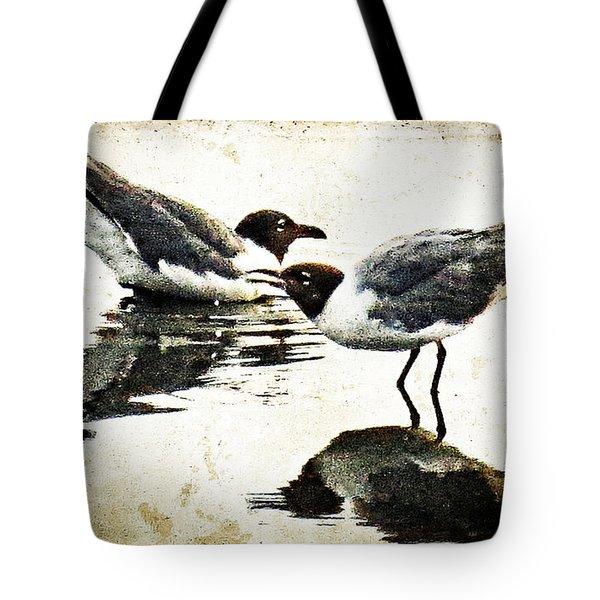 Morning Gulls - Seagull Art By Sharon Cummings Tote Bag by Sharon Cummings