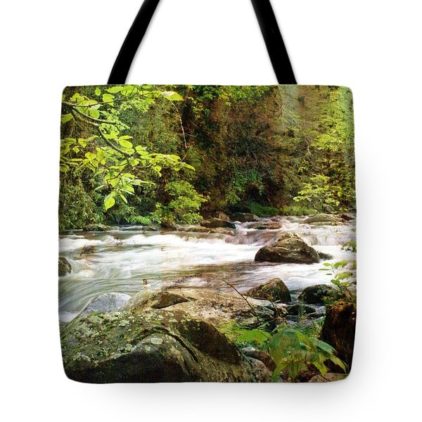 Morning In The Mountains Tote Bag by Marty Koch