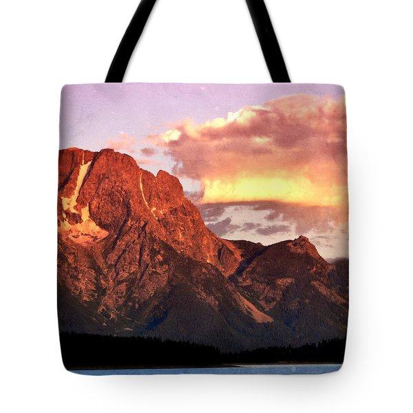 Morning Light On The Tetons Tote Bag by Marty Koch