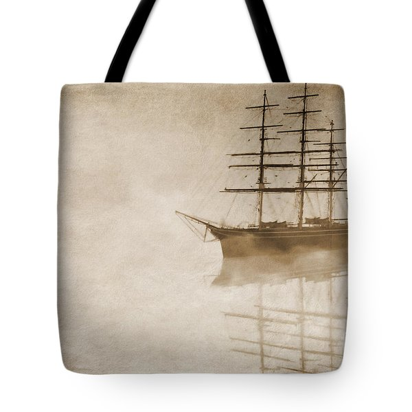 Morning mist in sepia Tote Bag by John Edwards