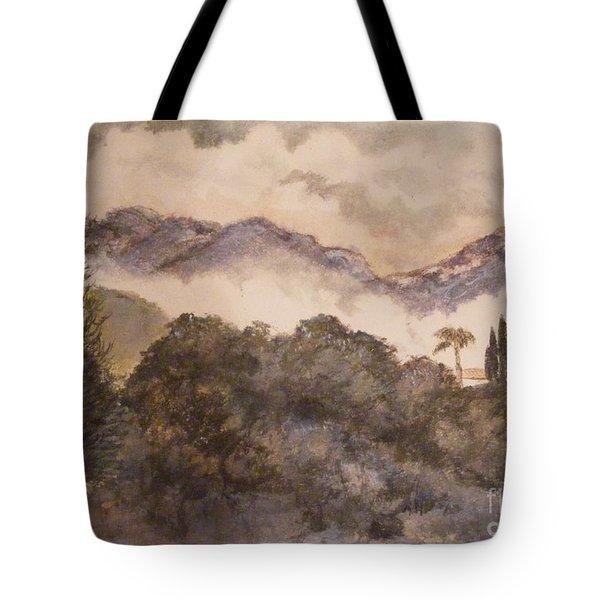 Morning mist Pasadena Tote Bag by Nancy Kane Chapman