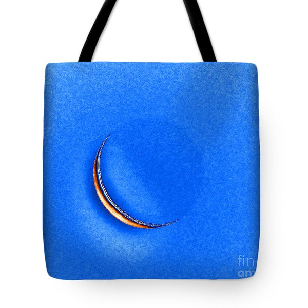Morning Moon Blue Tote Bag by Al Powell Photography USA