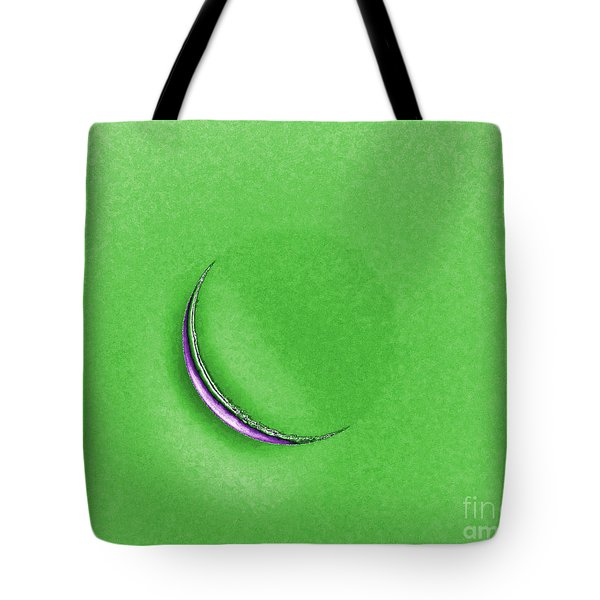 Morning Moon Green Tote Bag by Al Powell Photography USA