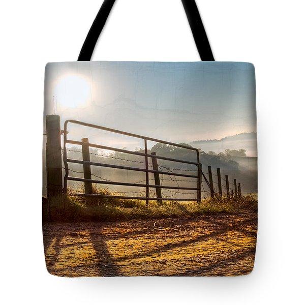 Morning Shadows Tote Bag by Debra and Dave Vanderlaan